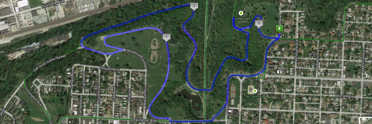 Tour of Kansas City 5K Course Map