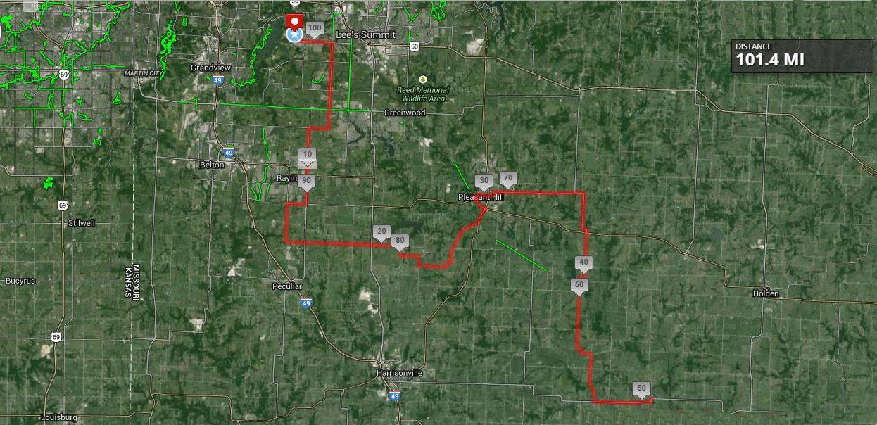 Tour of Kansas City Gran Fondo Map