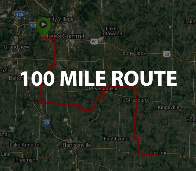 Jack-Cass Century Route Map